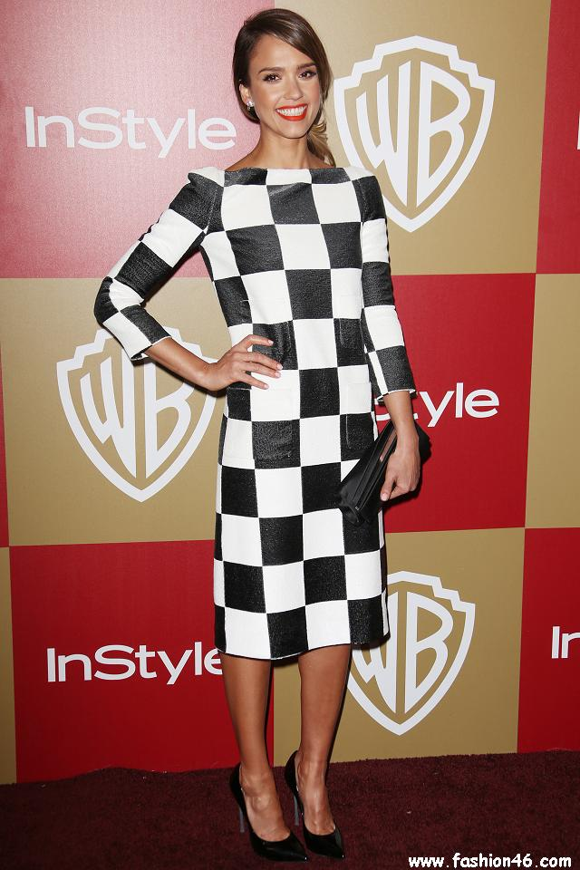 Jessica Alba After Golden Globes party