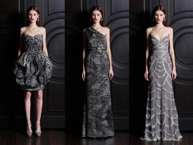 Short Dresses Naeem Khan Winter Collection 2013-8