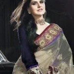 Zarine Khan Latest Women Saree Designs 2013-2
