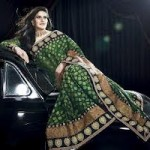 Zarine Khan Latest Women Saree Designs 2013-3