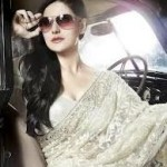 Zarine Khan Latest Women Saree Designs 2013-5