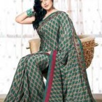 Zarine Khan Latest Women Saree Designs 2013-9