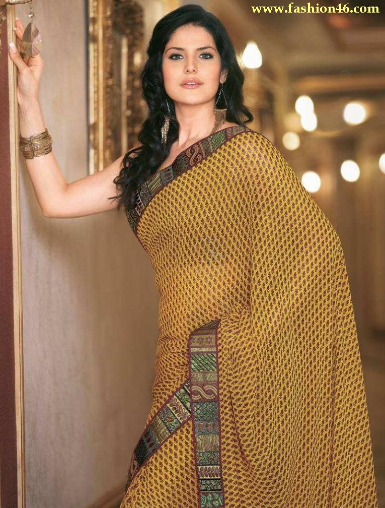 Zarine Khan Latest Women Saree Designs 2013
