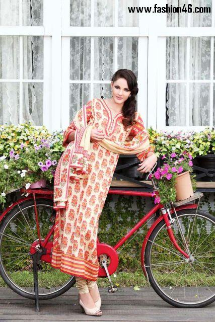 Latest 2013 women Summer Outfits fashion by Warda Designer Latest Almirah Spring Summer Lawn Collection 2013 for Women