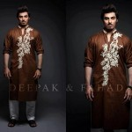 Latest Men's Kurta Collection 2013 by Fahad and Deepak-1