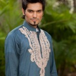 Latest Men's Kurta Collection 2013 by Fahad and Deepak-13