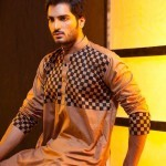 Latest Men's Kurta Collection 2013 by Fahad and Deepak-2