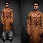 Latest Men's Kurta Collection 2013 by Fahad and Deepak-8