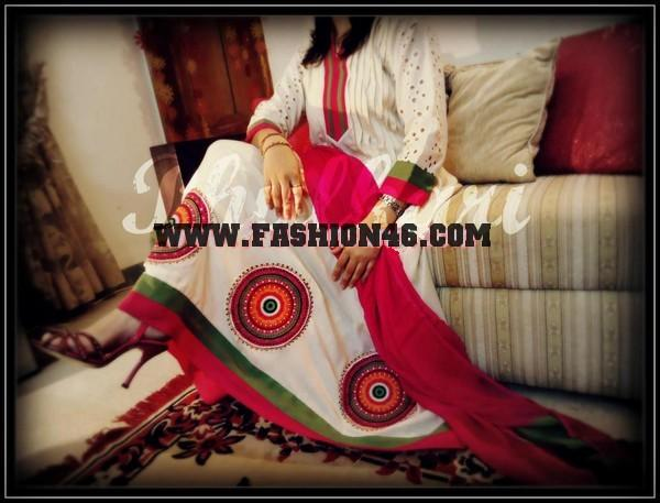 Latest Phulkari Spring Summer 2013 Fashion For Ladies Beautiful Silaayi Outfits Kurta fashion 2013 for Ladies