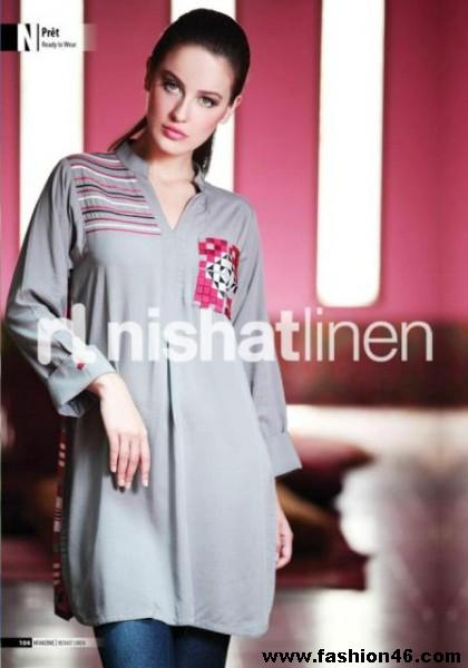 Latest Pret Wear 2013 Collection by Nishat Linen