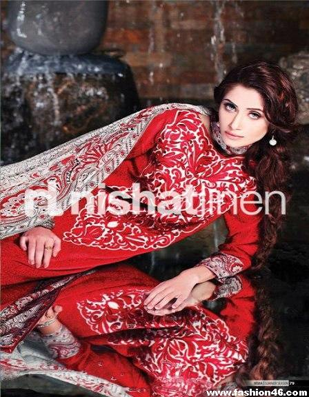 Spring Summer Lawn Collection 2013 by Nishat Linen
