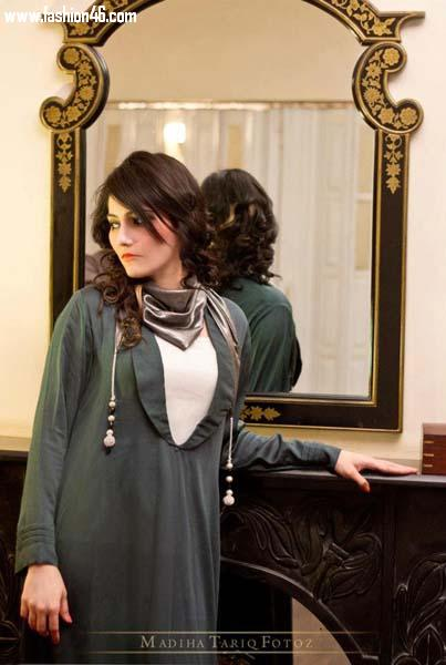 Women Spring Wear Outfits Collection 2013 by Minahil & Eleaza