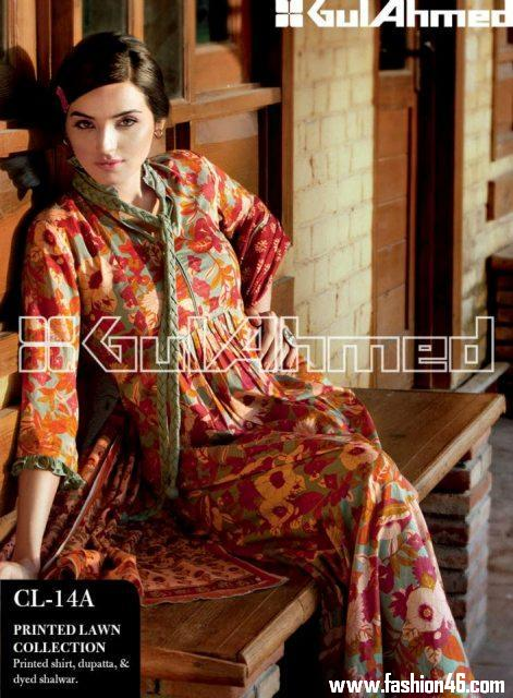 Awesome 2013 Gul Ahmed Women Lawn Prints Collection