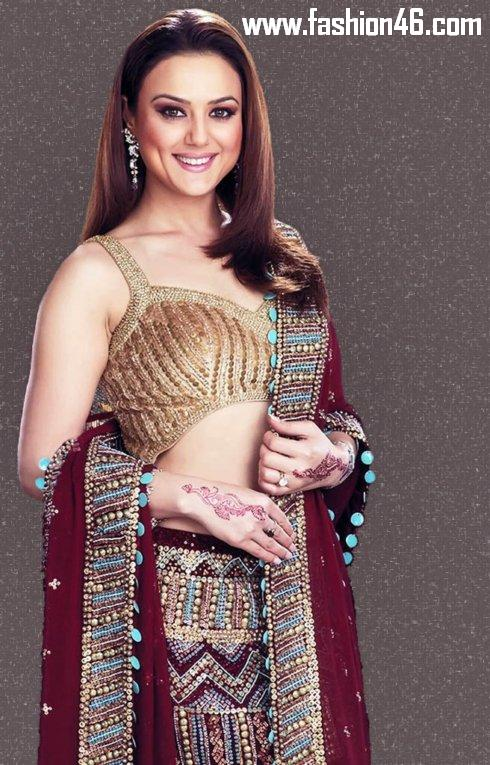Bollywood Celebrity Preity Zinta Saree Fashion Bollywood Celebrity Preity Zinta Saree Fashion