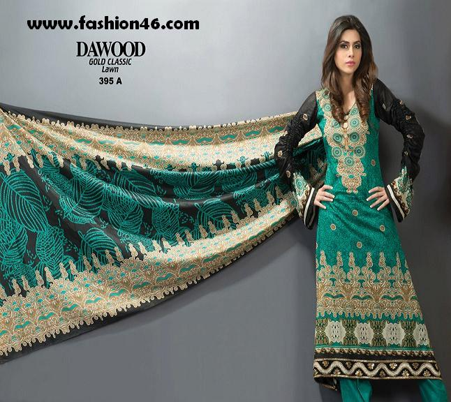 Latest DAWOOD Gold Classic Lawn Dresses 2013 for Women