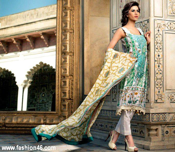 Lawn Spring Summer Collection 2013 by Mahnoush