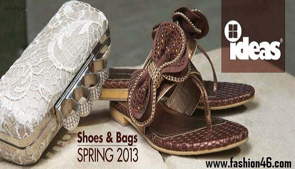 Ideas Women Spring Shoes and Handbags Collection 2013 By Gul Ahmed