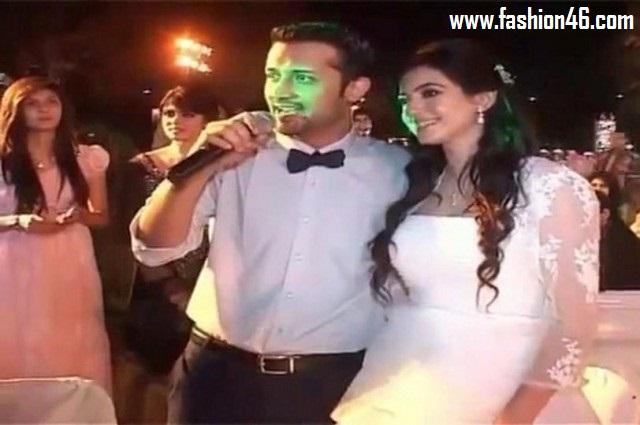 Walima Pictures of Atif Aslam and Sara Bharwana