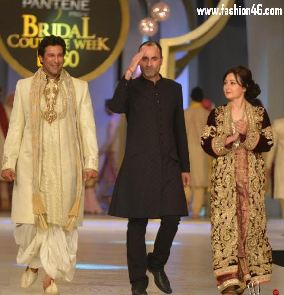Wasim Akram & Zeba Bakhtiar at Pantene Bridal Couture Week 2013
