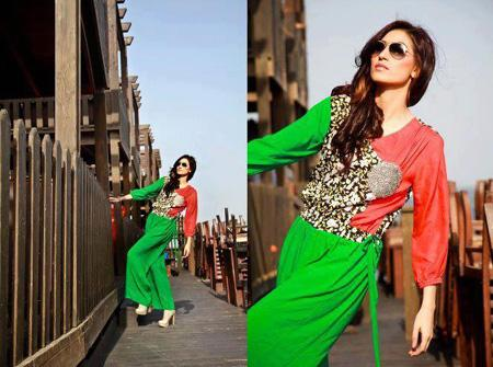 Latest Spring Collection 2013 For Girls Parre by Arooba Zulfiqar