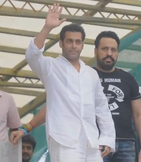 Bollywood superstar Salman Khan snapped on Eid