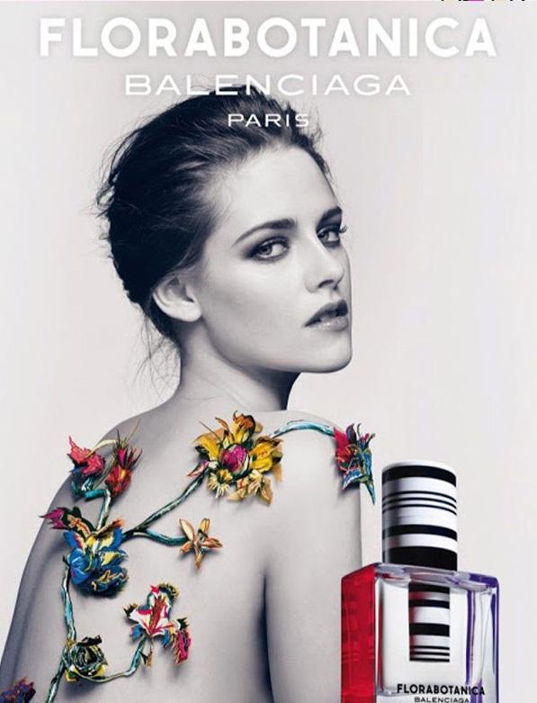 Topless Kristen Stewart for Balenciaga Florabotanica Fragrance Ad
