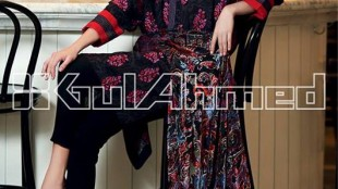 Gul Ahmed Silk Velvet Fall  Winter Collection 2013-14