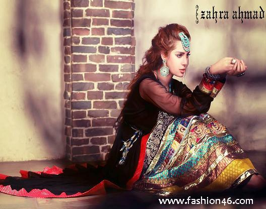 New Zahra Ahmad Semi formal Wear Dresses 2014 New Zahra Ahmad Semi formal Wear Dresses 2014