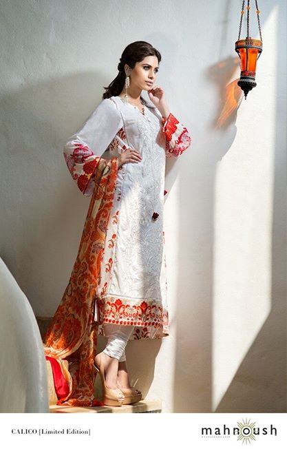 New Mahnoush Lawn Prints Dress 2014 For Summer New Mahnoush Lawn Prints Dress 2014 for Summer