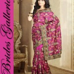 Latest Brides Galleria Ladies Beautiful Saree Fashion 2014