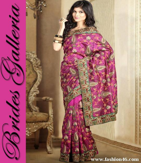 Latest Brides Galleria Ladies Beautiful Saree Fashion 2014 Latest Brides Galleria Ladies Beautiful Saree Fashion 2014