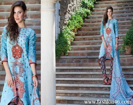 Latest Firdous Lawn Dresses Collection 2014 Latest Firdous Lawn Dresses Collection 2014