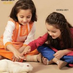 Latest Kids wear Eid Dress Collection 2014 by AlKaram-2