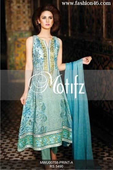 Latest Motifz Ladies Eid Stitched Clothes 2014 Latest Motifz Ladies Eid Stitched Clothes 2014