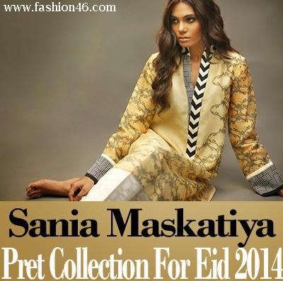 Latest fashion news, latest fashion trends, latest dresses, latest dresses for girls, Eid dresses collection for girls, long shirts with churidar pajamas, shalwar kameez for women, latest sania maskatiya, eid dresses collection 2014, sania maskatiya latest dresses