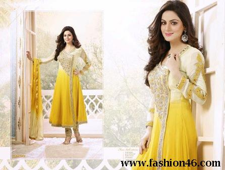 New Indian Anarkali Frocks Collection for Girls 2014-15