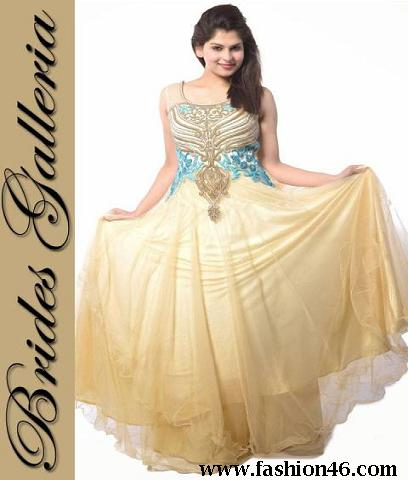 Party Wear Frock Collections Brides Galleria 2014-15
