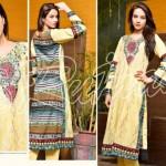 Rujhan Fabrics Raniya Eid Dress for Women 2014 vol 2-3