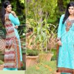 Rujhan Fabrics Raniya Eid Dress for Women 2014 vol 2-8