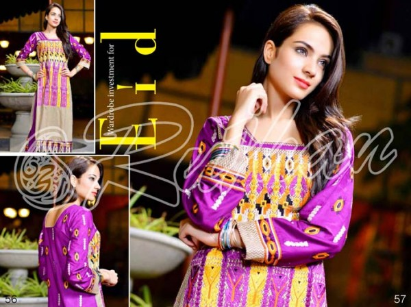 Rujhan Fabrics Raniya Eid Dress for Women 2014 vol 2