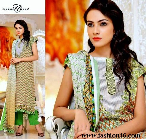 New Five Star Eid Classic Summer Lawn Designs Collection 2014 Vol 5
