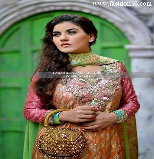 Farah and Fatima Couture Women Dresses Collection 2014 Farah and Fatima Couture Women Dresses Collection 2014