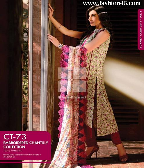 Latest Summer Season Gul Ahmed dresses collection 2014 for women