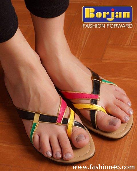 For Women Borjan Eid Ul Azha Footwear Collection Unze New Flat Sandals Collection 2013 for Ladies
