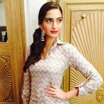 Latest Best Hairstyles of Sonam Kapoor at Khoobsurat Promotions-5