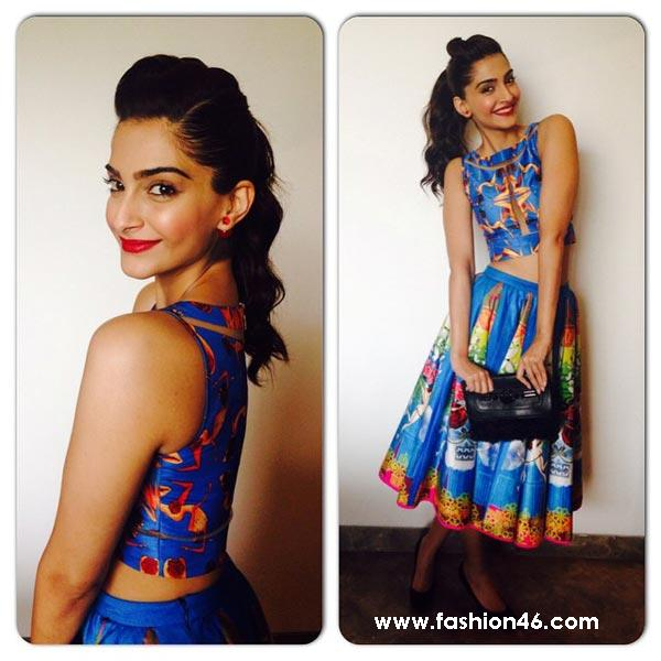 Latest Best Hairstyles of Sonam Kapoor at Khoobsurat Promotions Latest Best Hairstyles of Sonam Kapoor at Khoobsurat Promotions