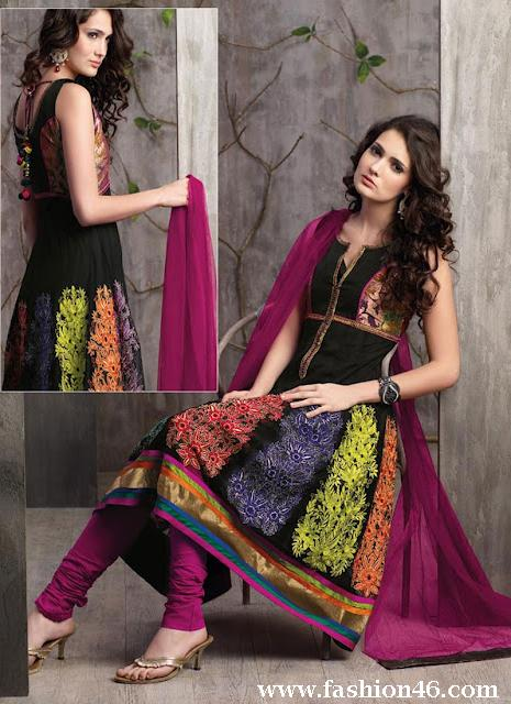 Latest Churidar Anarkali Frock Collection 2014 for Women Latest Churidar Anarkali Frock Collection 2014 for Women