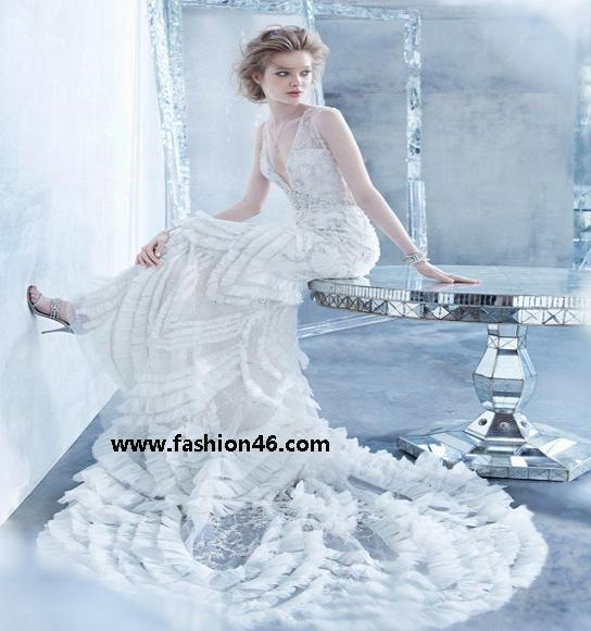 latest fashion news, latest fashion trends, latest dresses, latest bridal dresses, latest bridal gown fall 2014, lazaro bridal gown fall 2014, lazaro bridal dresses, latest fashion for women, gown fall 2014 for women, women dresses, womens clothing, women fashion, latest women fashion 2014, wedding dresses for women, stylish bridal gowns 2014, latest marriage dresses for women
