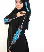 Latest Embroidered Hijabs 2014 For Women-2