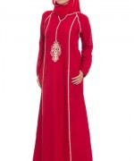 Latest Embroidered Hijabs 2014 For Women-3